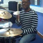 Kevin givng practical history lesson on Memphis Drummer Al Jackson Jnr